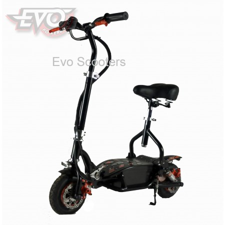 EvoMotion Powerboards electric scooter 300SX lithium LED lights, seat, compact, lightweight