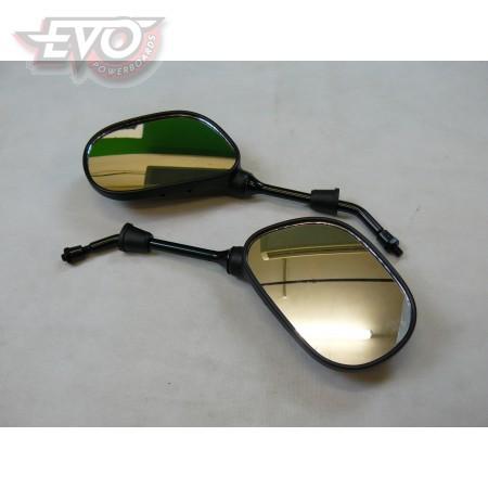 Mirror set - pair rear view mirrors. 8mm thread